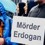 Kurden demonstrieren am Bahnhof Aarau gegen Erdogan und Situation in Syrien. Aufgenommen am 15. Oktober 2019.