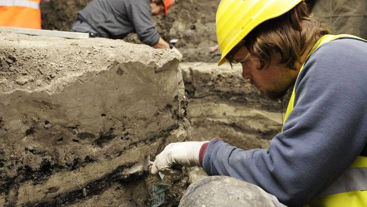 Die archäologischen Grabungen auf der Baustelle des Pakhauses Opera neigen sich dem Ende entgegen