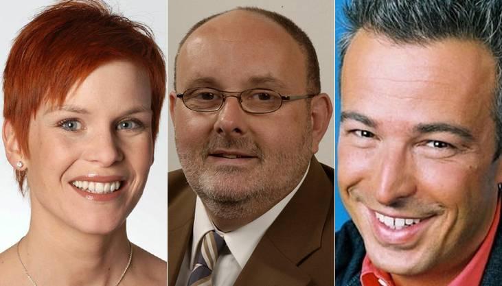 Die Moderatoren: Sandra Boner, Dagobert Cahannes und Dani Forler