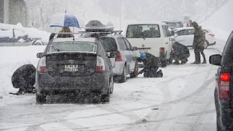 Starker Schneefall am 17. Januaur