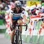 Mathias Frank fährt in Flumserberg über die Ziellinie - als enttäuschender 44. mit einem Rückstand von 3:25 Minuten auf den Tagessieger Antwan Tolhoek