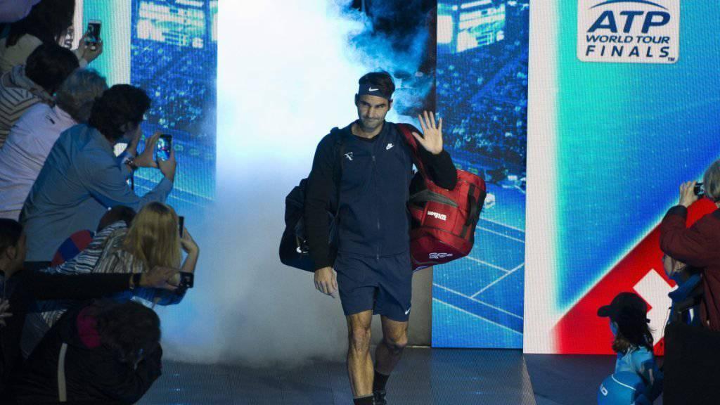 Grosser Auftritt: Heute Abend kommt es in der O2 Arena zum Gipfeltreffen zwischen Roger Federer (Bild) und Novak Djokovic