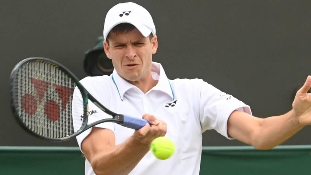 Etwas überraschend der Viertelfinal-Gegner von Roger Federer am Mittwoch: der Pole Hubert Hurkacz, Nummer 18 der Welt