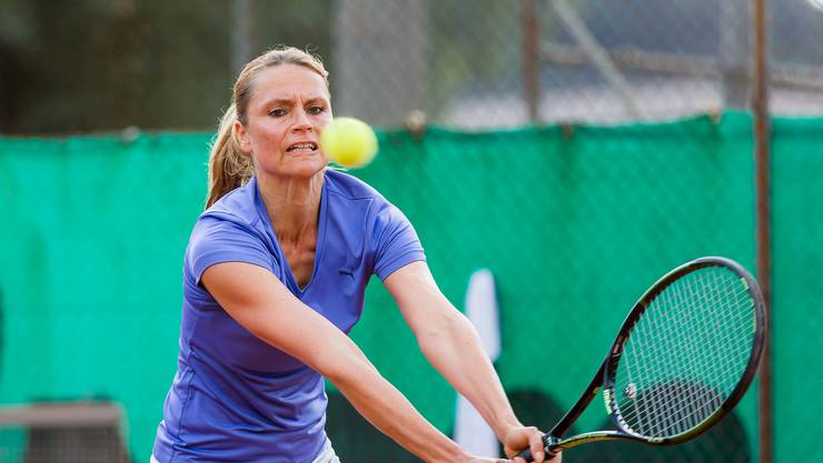 Michelle Paroubek (TC Brugg) gehört an den Senioren Schweizer Meisterschaften zu den grossen Favoritinnen.