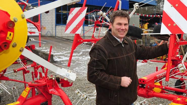 Niederwiler Olma: Rolf Mäder präsentiert zwischen Weihnachten und Neujahr neue Landmaschinen.  (Dino Nodari)