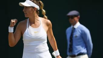 Belinda Bencic ballt nach einem gewonnenen Punkt die Faust