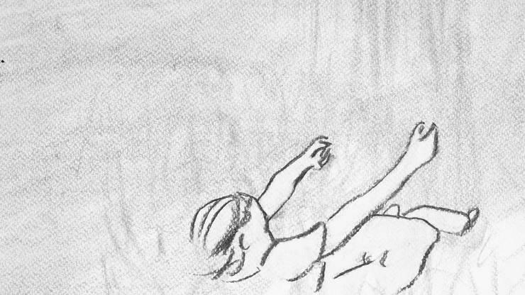 Mit Kohle zeichnet sie Bilder, die sie fotografiert und am PC aneinanderreiht. So entsteht ein Animationsfilm. Auf den Bildern zu sehen sind Skizzen, die in ihrem Film erscheinen, der gleichzeitig ihre Bachelorarbeit ist.