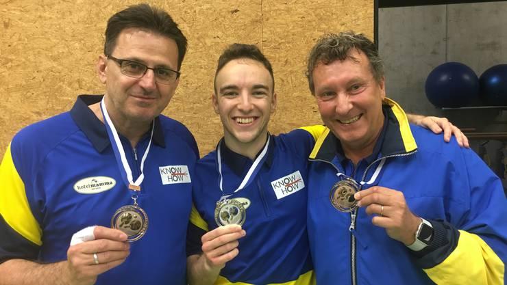 Zweiter und dritter Sieger Doppel max. 18 Klassierungspunkte: v.l.n.r.: Berzad Durmic, Patrick Züst, Franco Fontana