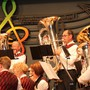 Gaben Gas: Das Solisten-Trio auf der Tuba mit Erich Kramer, Walter Huber und Daniel Oeschger (v.l.). zvg