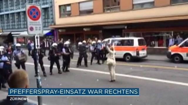 Pfefferspray-Einsatz gegen Demonstrantin legitim