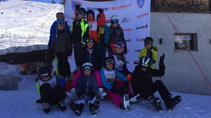 Die Kinder des organisierenden Skiclubs Egerkingen
