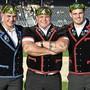 Die drei Nordwestschweizer Eidgenossen (v. l.): Andreas Döbeli, Patrick Räbmatter und Joel Strebel.