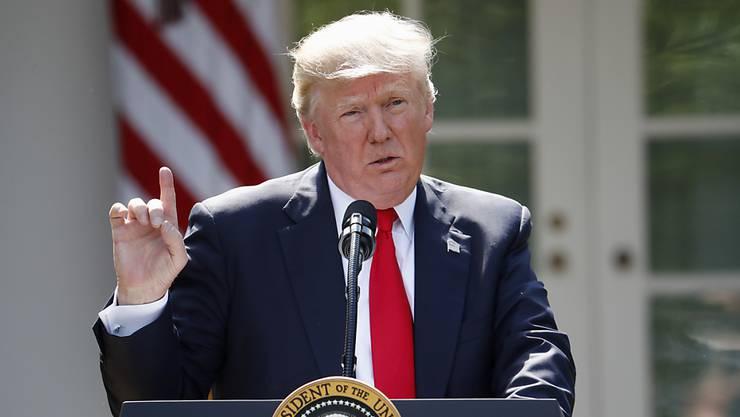 Löst mit der Kündigung des Pariser Klimaabkommens ein Wahlkampfversprechen ein: US-Präsident Donald Trump. (Archivbild)