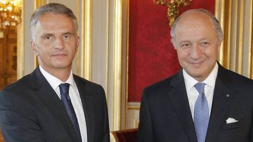 Didier Burkhalter trifft Laurent Fabius