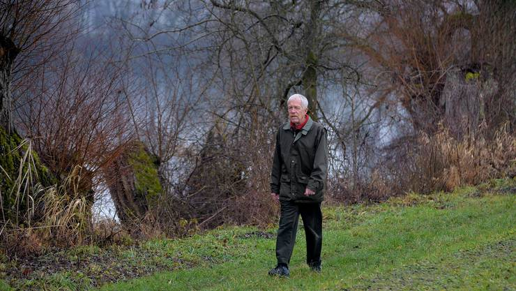 Viktor Stüdeli auf seinem letzten Kontrollgang. 17 Jahre lang war er mit der Aufsicht über die Einhaltung der Vorschriften in der Witi-Schutzzone beauftragt.