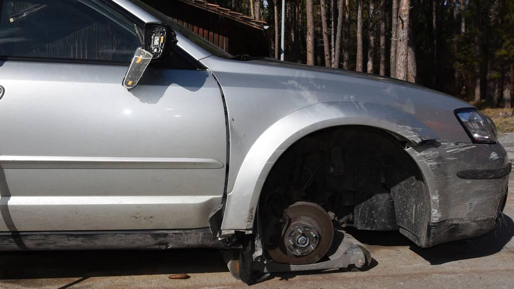 So fuhr ein Mann nach einem Unfall weiter