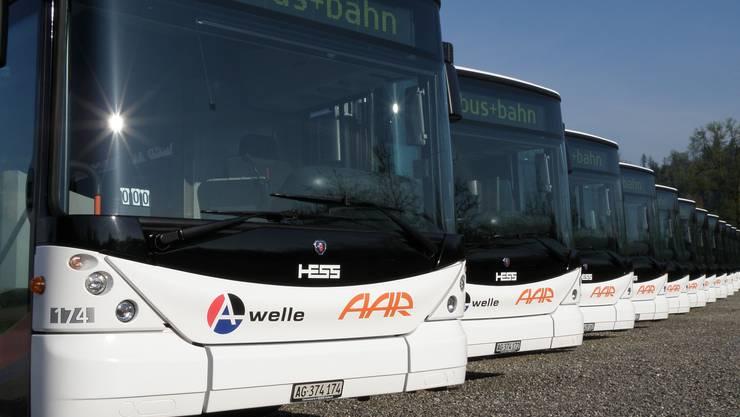 Der Stadtrat bereitet eine Offerte vor, um die Beteiligung am Busbetrieb Aarau (BBA) zu vergrössern.zvg