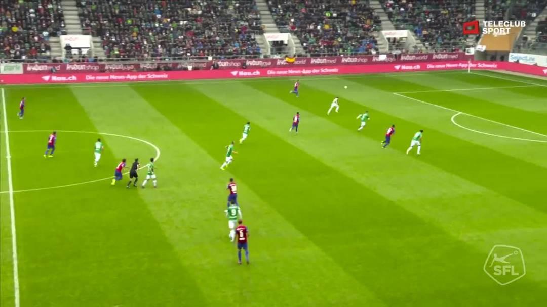 FC St.Gallen - FC Basel - Noah Okafor, 7. Minute (6.10.19)