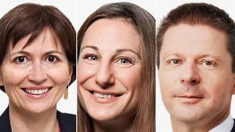 Regula Rytz (Grüne), Adèle Thorens (Grüne) und Martin Bäumle (GLP).