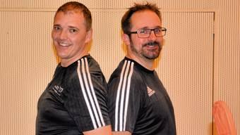 Die Rekord-Schiedsrichter Thomas Baumgartner (links) und Thomas Kläsi vor ihrem allerletzten Einsatz.