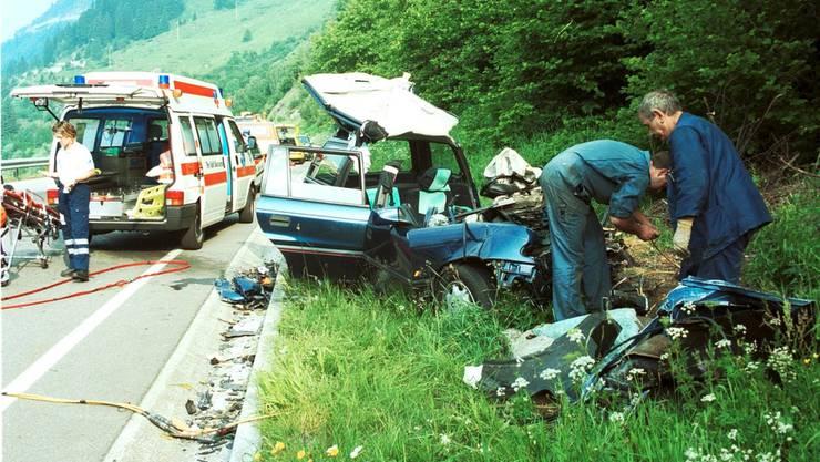 Unfall am Gotthard durch führerloses Auto