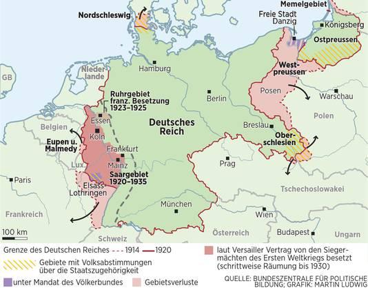 Die territorialen Auswirkungen der Versailler Verträge