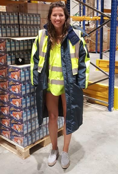 Ramona im Kühllager