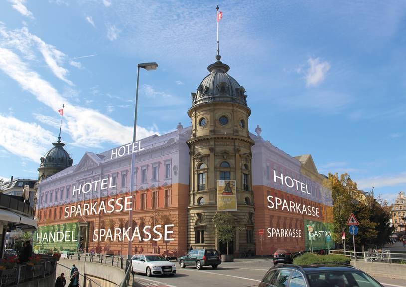 Zalando kommt in den Innenhof der Sparkasse, direkt neben der grossen Marktgasse. (Bild: pd)