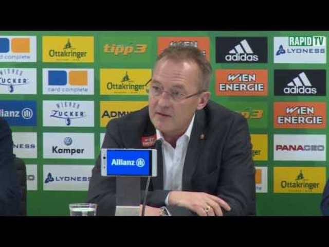 Die wichtigsten Statements von der Präsentation von Fredy Bickel als neuer Sportdirektor beim SK Rapid Wien
