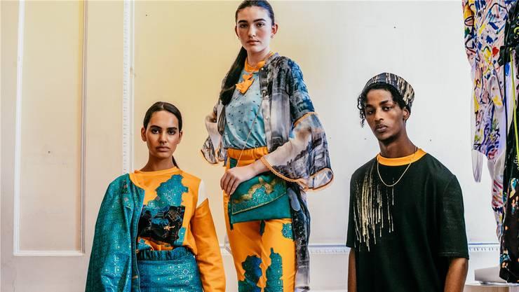 Diese drei Looks präsentierte Ramona Erb Mitte September in London.