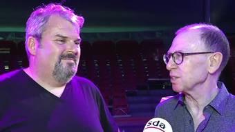 Viktor Giacobbo und Mike Müller sind die Stargäste der Jubiläumstournee des Circus Knie. Im Interview sprechen sie über ihre Show und die geplante Wohnsituation.