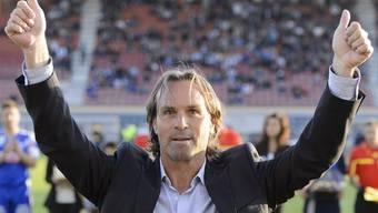 Martin Rueda wid neuer YB-Coach. Hier jubelt er noch mit Lausanne.