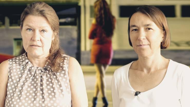 Andrea Gisler (rechts) und Beatrice Bänninger sind sich in Sachen Prostitution nicht einig.