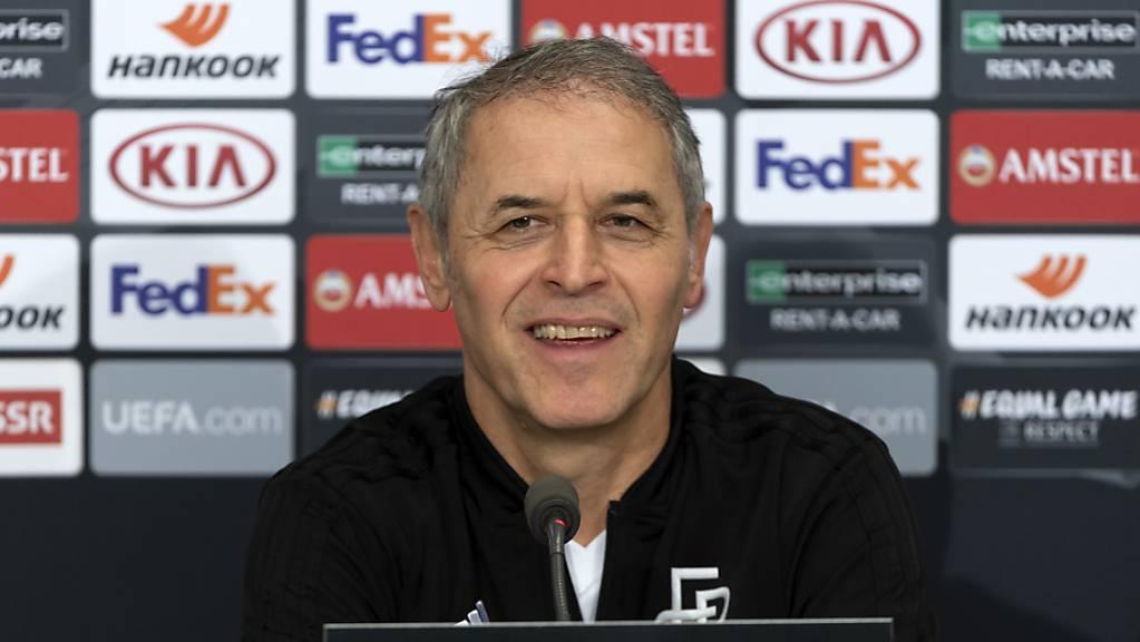 Basels Trainer Marcel Koller sieht vor dem Europa-League-Spiel gegen Getafe keine Baisse seines Teams.
