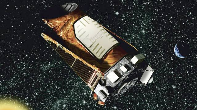 Eine Zeichnung des Weltraumteleskops Kepler