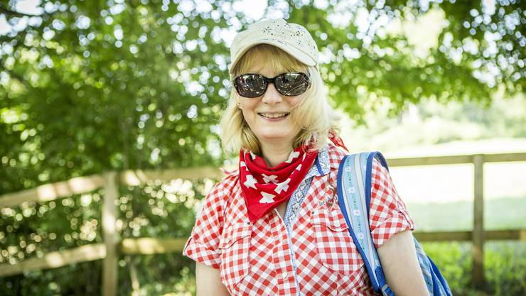 «Die Hitze macht mir schon etwas zu schaffen, aber die Leserwanderungen machen mir halt einfach Spass», sagt Verena Frey aus Turgi AG, die bisher alle Etappen dieses Jahr mitgelaufen ist.