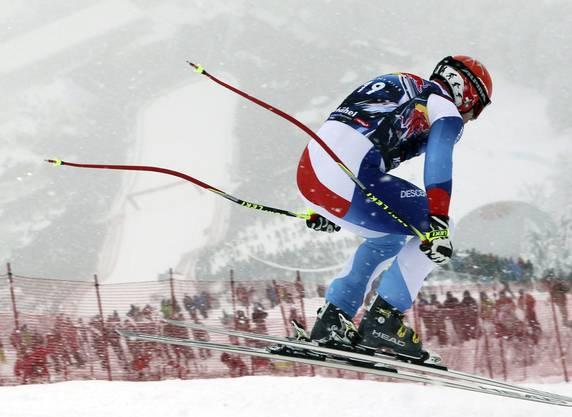 Didier Cuche bei seiner Siegesfahrt in Kitzbühel