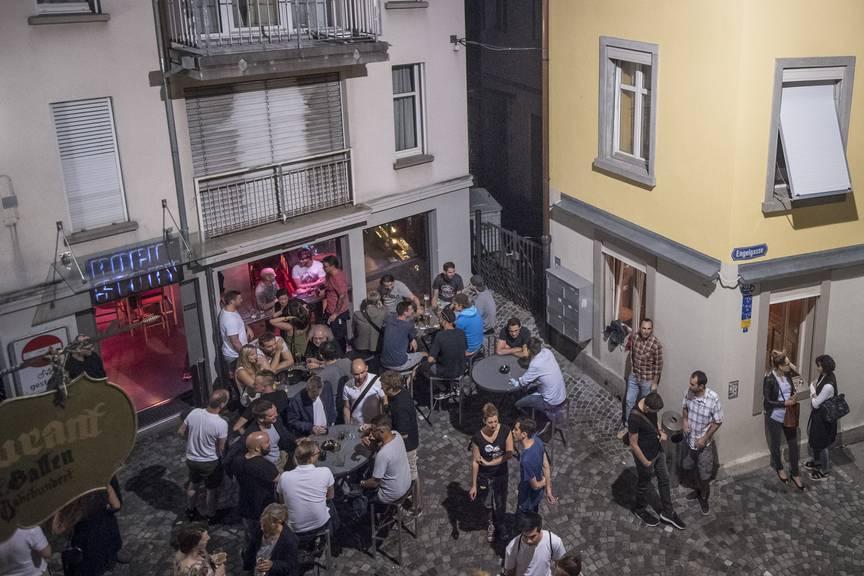 Das Bermudadreieck ist eine beliebte Ausgangsmeile in St.Gallen. (Bild: Tagblatt/Benjamin Manser)