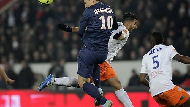Zlatan Ibrahimovic hat mit diesem Kopfball für einmal kein Glück.