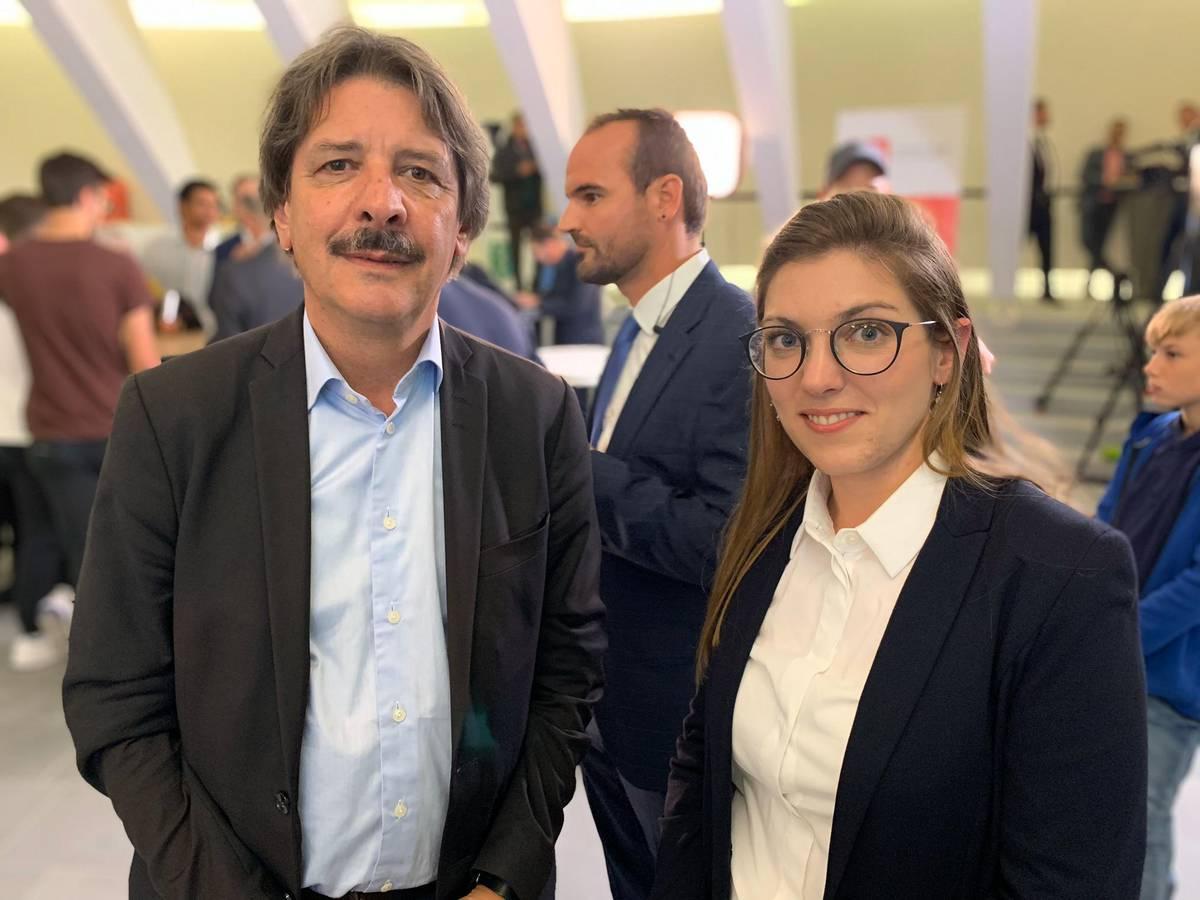 Paul Rechsteiner (SP) muss für den Einzug in den Ständerat den zweiten Wahlgang am 17. November abwarten. Franziska Ryser (Grüne) wurde in den Nationalrat gewählt. (© FM1Today)