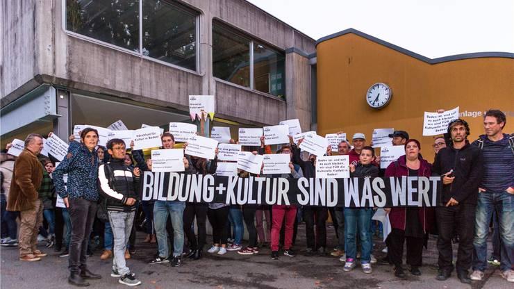 Demo für das «Nordportal» an der Einwohnerratsitzung im Oktober 2017.