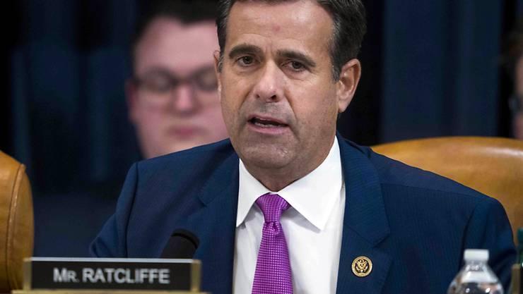 US-Präsident Donald Trump will den umstrittenen republikanischen Abgeordneten, John Ratcliffe, in einem zweiten Anlauf doch noch zum Leiter der US-Geheimdienste ernennen. (Archivbild)