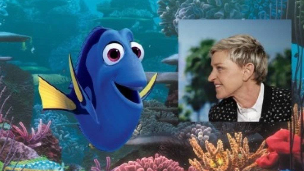 Ellen DeGeneres (r), die Stimme von Doktorfisch Dory (l) engagiert sich für den Schutz des Great Barrier Reef. (Archivbilder)