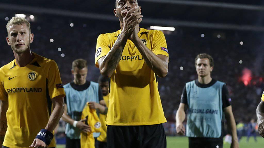 YB nach 1:1 im Rückspiel nicht in Champions League