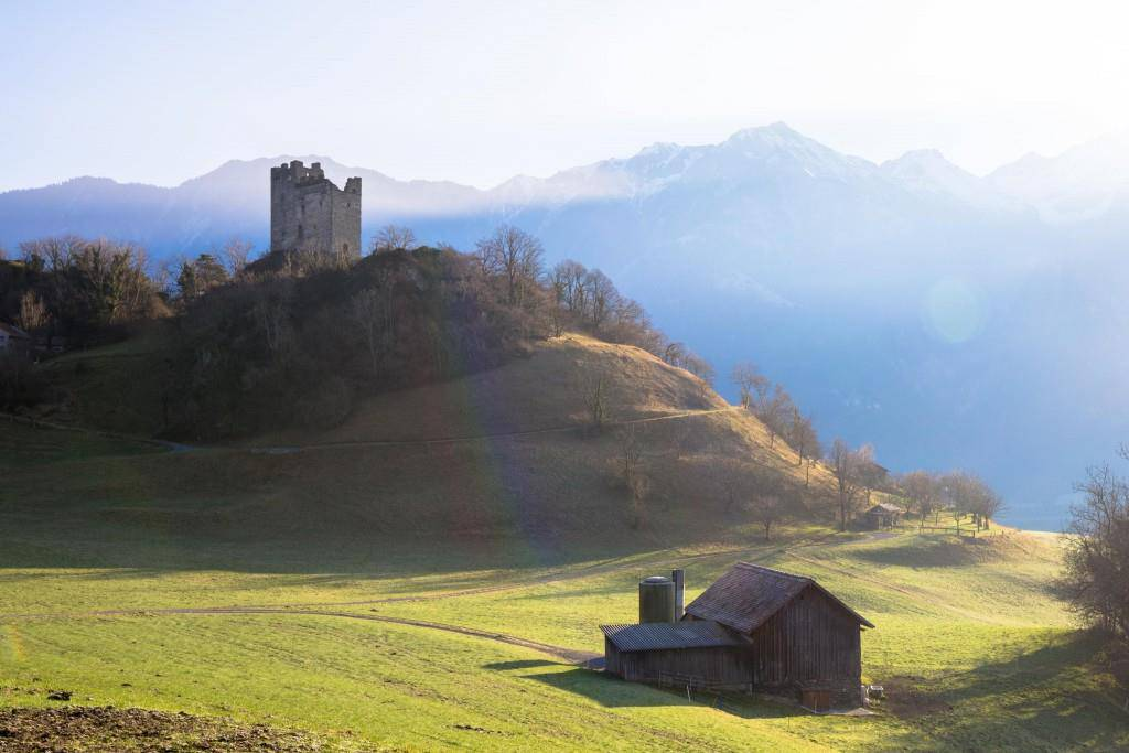 Die Burg Wartau wurde 1530 aufegeben und... (© Raphael Rohner/FM1Today)