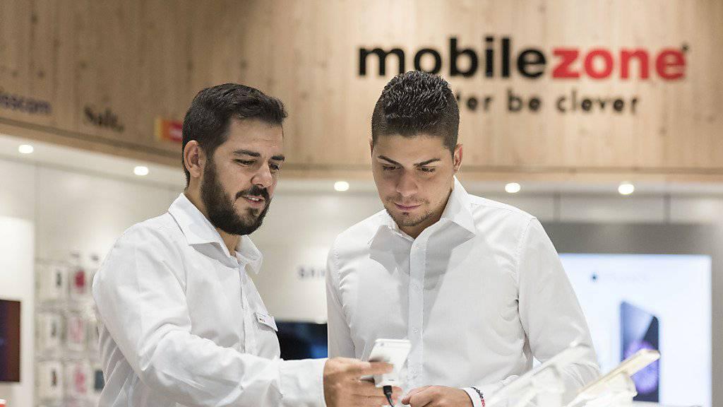 Mobilezone-Shop in Oftringen: Die Shops sind nach nach wie vor das Zugpferd für das Geschäft des Handyverkäufers.