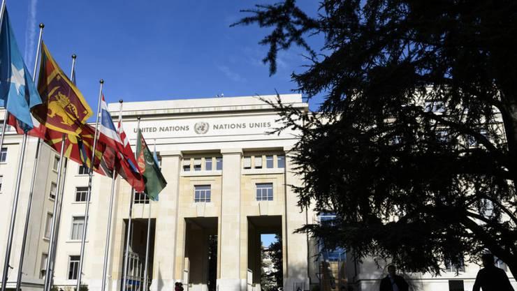 Hier finden die Syrien-Gespräche statt: Das Palais des Nations am Dienstag in Genf.