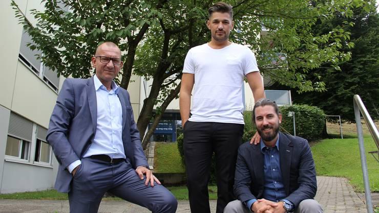 Argjent Kaba (von links), Pascal Leuthold und Roger Ringger wollen für eine bessere Auslastung der Autos sorgen.