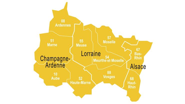 Diese drei Regionen werden Anfang 2016 fusioniert. Der Front National verspricht, die Fusion bei Wahlerfolg wieder rückgängig zu machen.