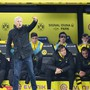Lucien Favre im Spiel gegen Werder Bremen.  (Expa/Freshfocus)